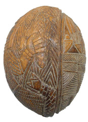 Very Rare Benin Coconut Shell Container For The Royal Court - Product