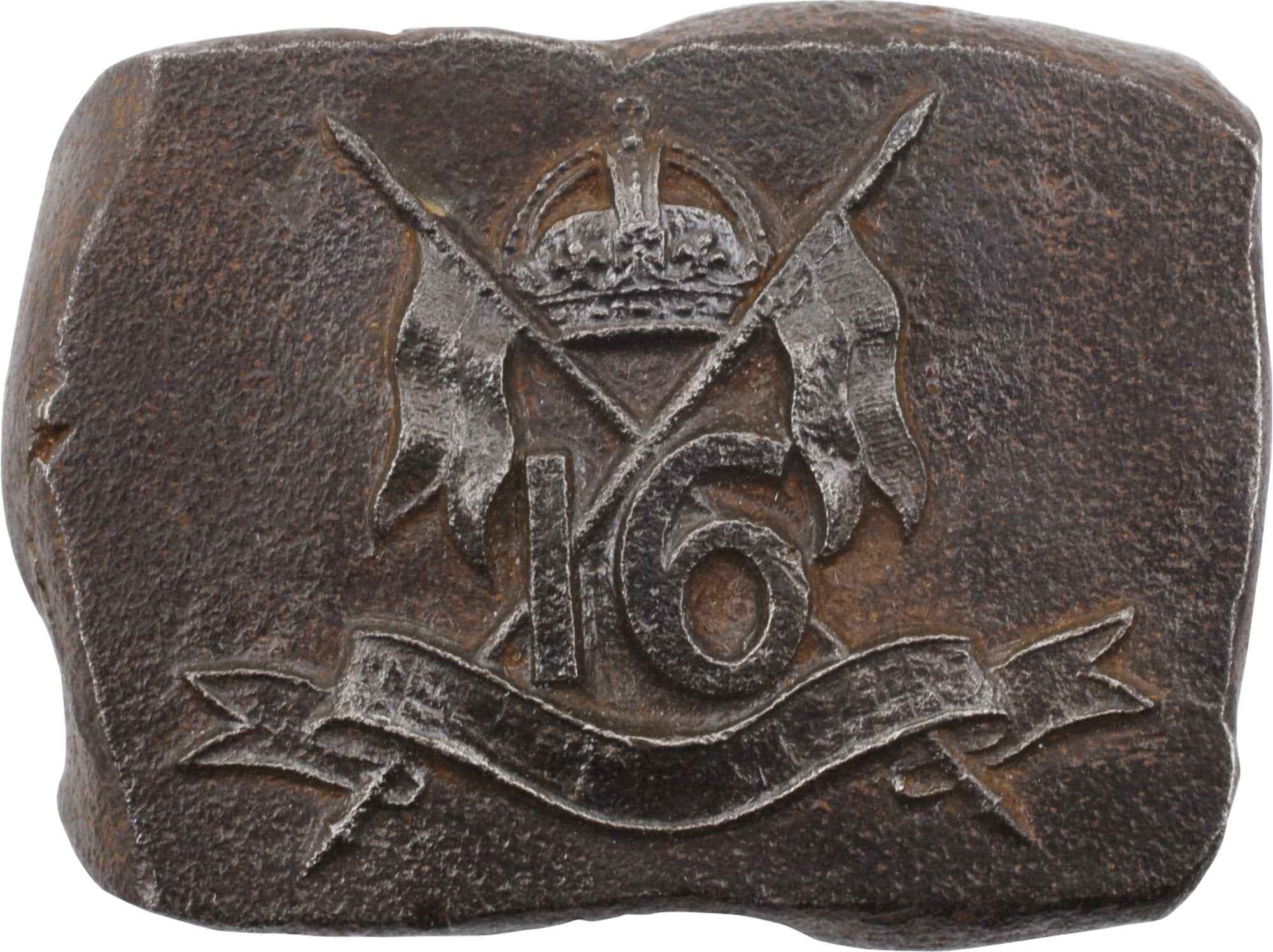 Victorian Steel Die To Strike The Hat Badge For The British 16Th Lancers - Product