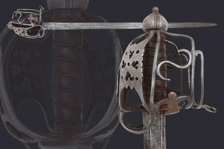 A Fine Scottish Basket Hilt Broadsword, Second Quarter Of The 18th Century