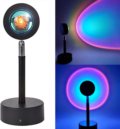 90 Degree Rotation Rainbow Sunset Projection Night Light - Sunset Projection Lamp