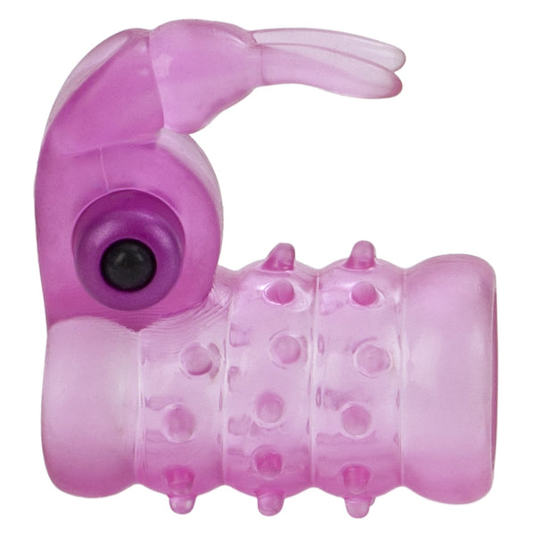 Basic Essentials Stretchy Vibrating Bunny Enhancer