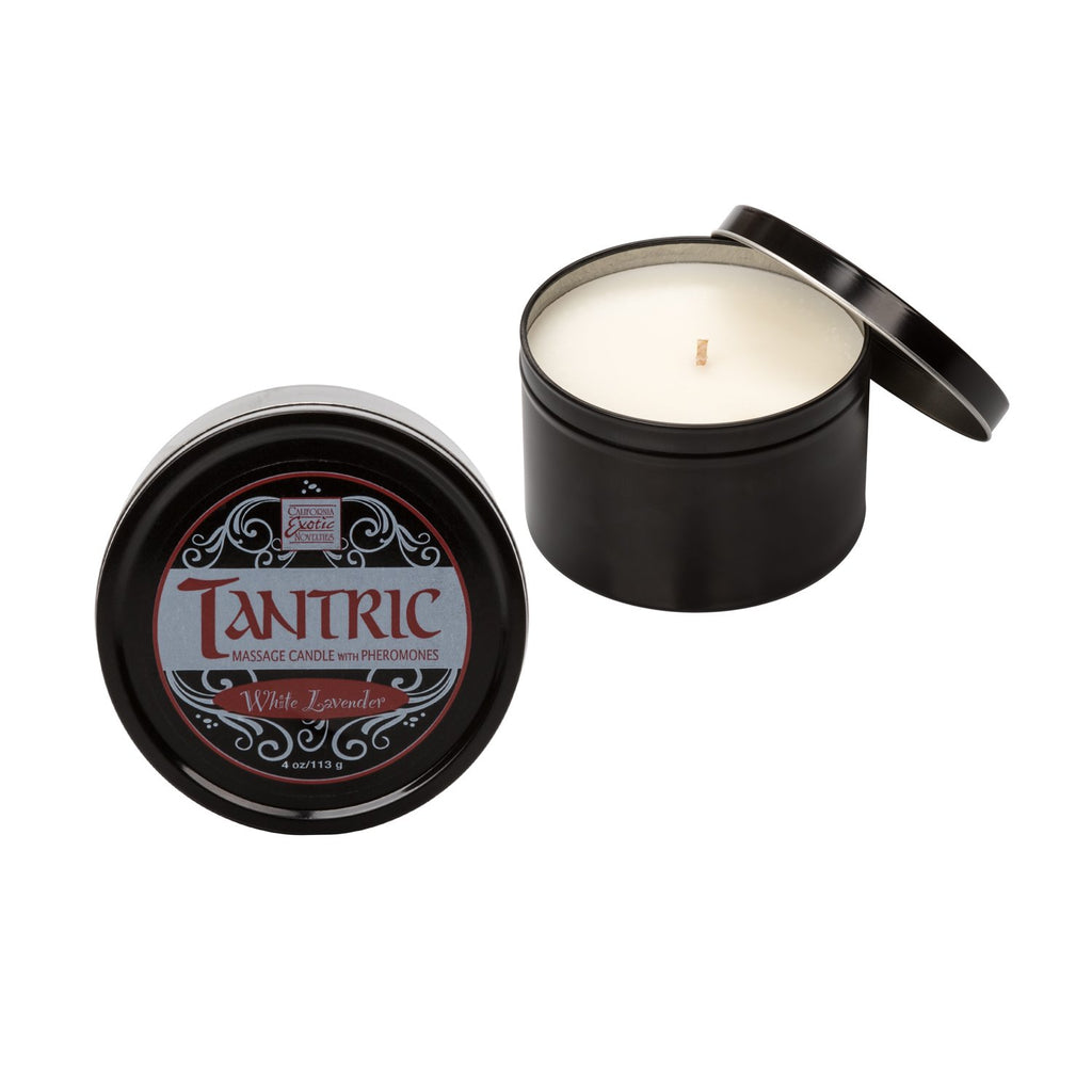 Tantric Soy Massage Candle with Pheromones White Lavender