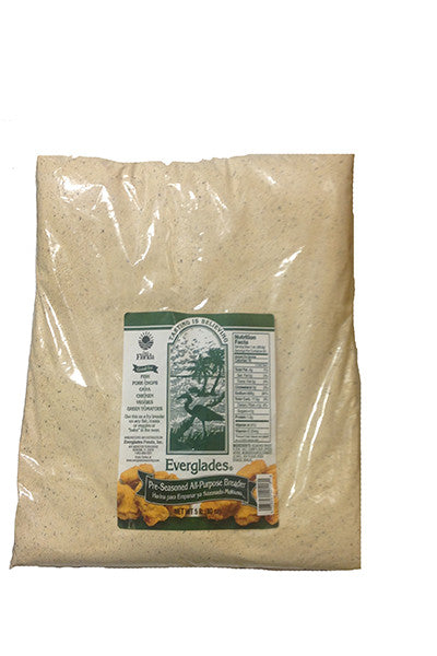 Everglades Pre-Seasoned All Purpose Breading Mix 5 lb Case