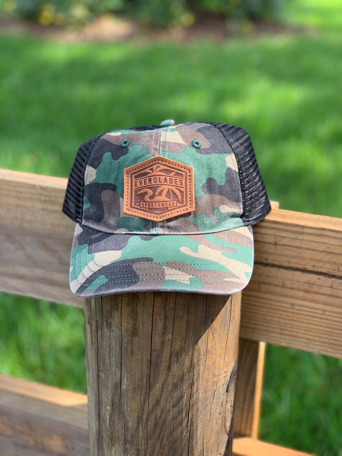 Leather Patch Richardson 111 Army Camo and Black