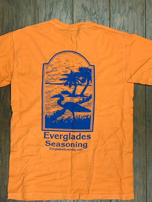 Comfort Color Everglades T-Shirt-Blue and Orange
