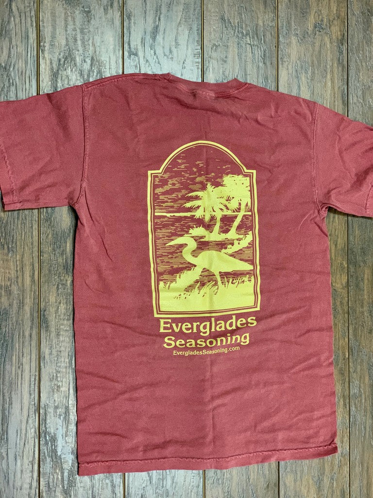 Comfort Color Everglades T-Shirt-Garnet and Gold