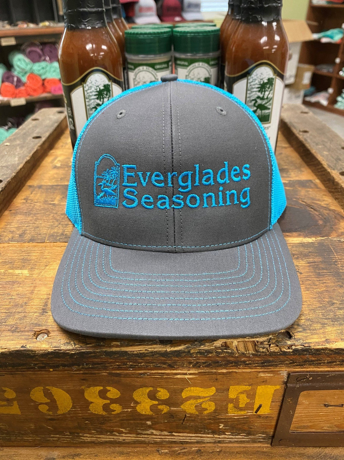 Everglades SnapBack-Charcoal and Blue