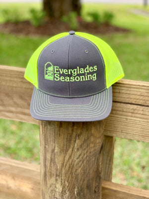 Everglades SnapBack-Charcoal and Neon Green