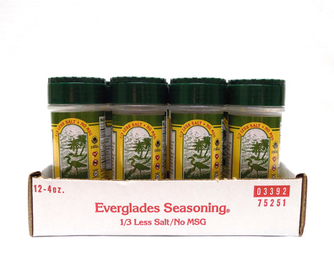 Everglades Seasoning 1/3 Less Salt/No MSG 4 oz Case