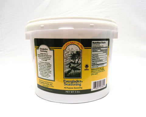 Everglades Seasoning 1/3 Less Salt/No MSG 5 lb Case
