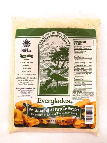 Everglades Pre-Seasoned All Purpose Breading Mix 12 oz Bag