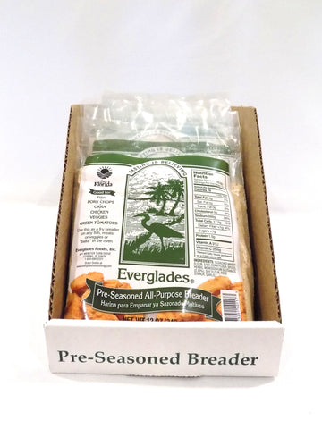 Everglades Pre-Seasoned All Purpose Breading Mix Case of 12-12oz Bags
