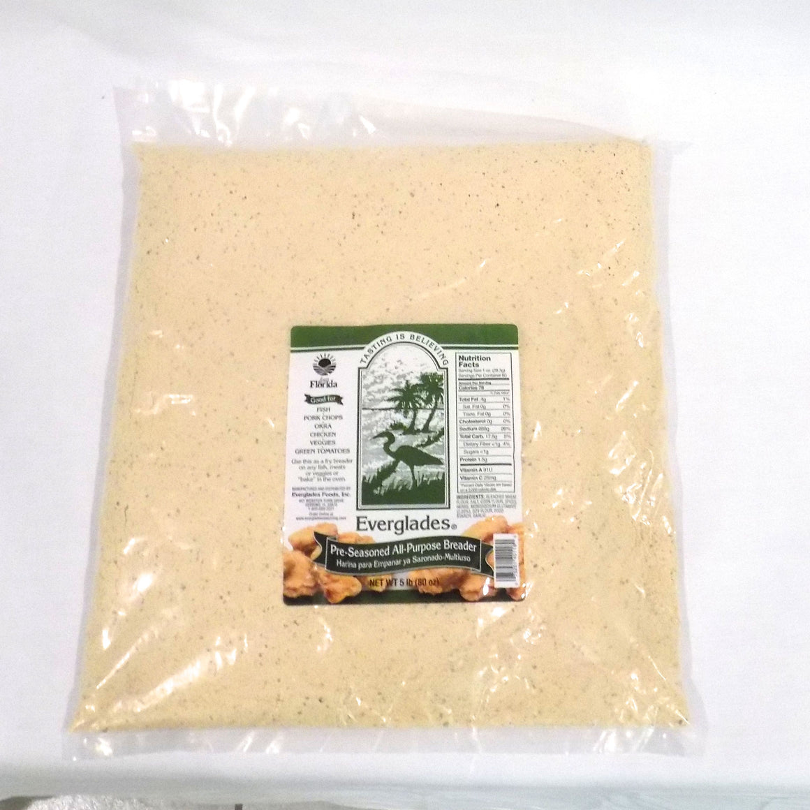 Everglades 5 lb Pre-Seasoned All Purpose Breading Mix Bag