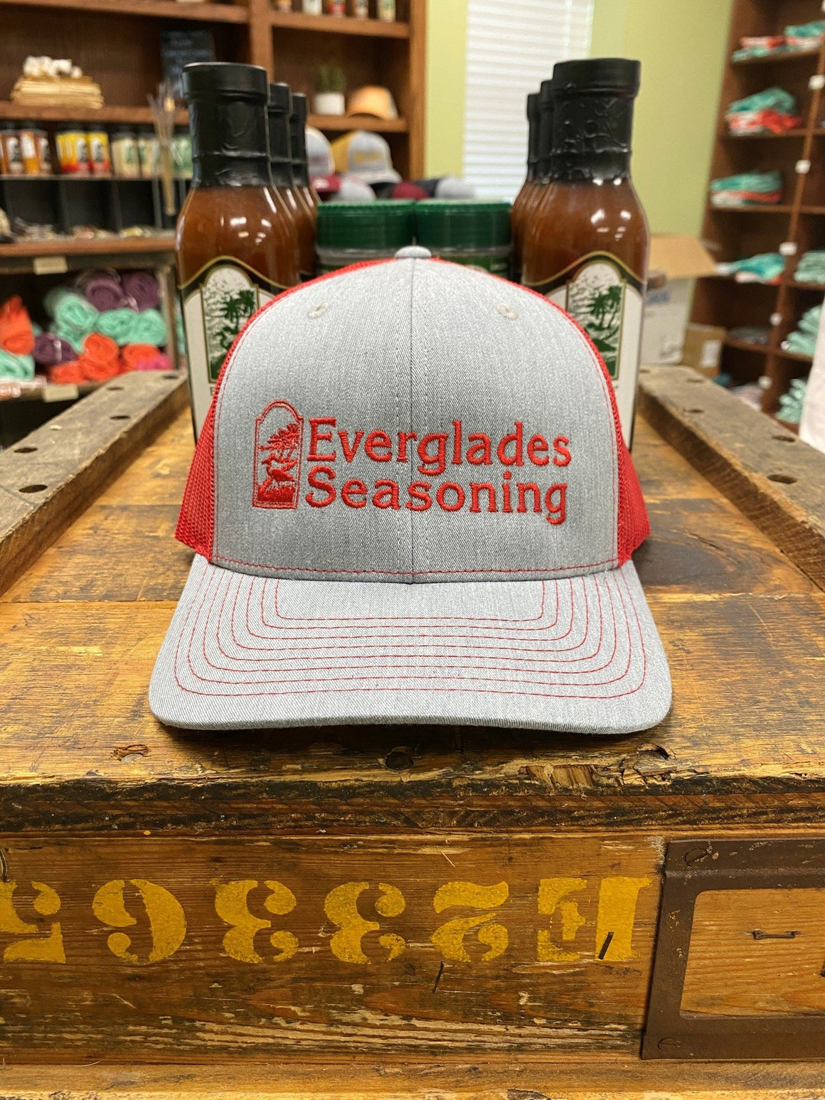 Everglades SnapBack-Red and Grey