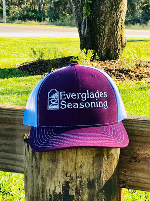 Everglades SnapBack-Maroon and White