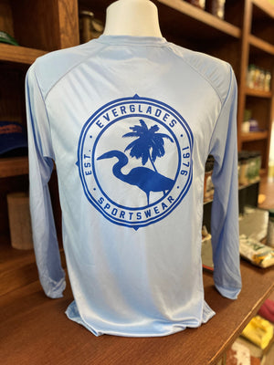 Everglades Sportswear Pastel Blue and Royal