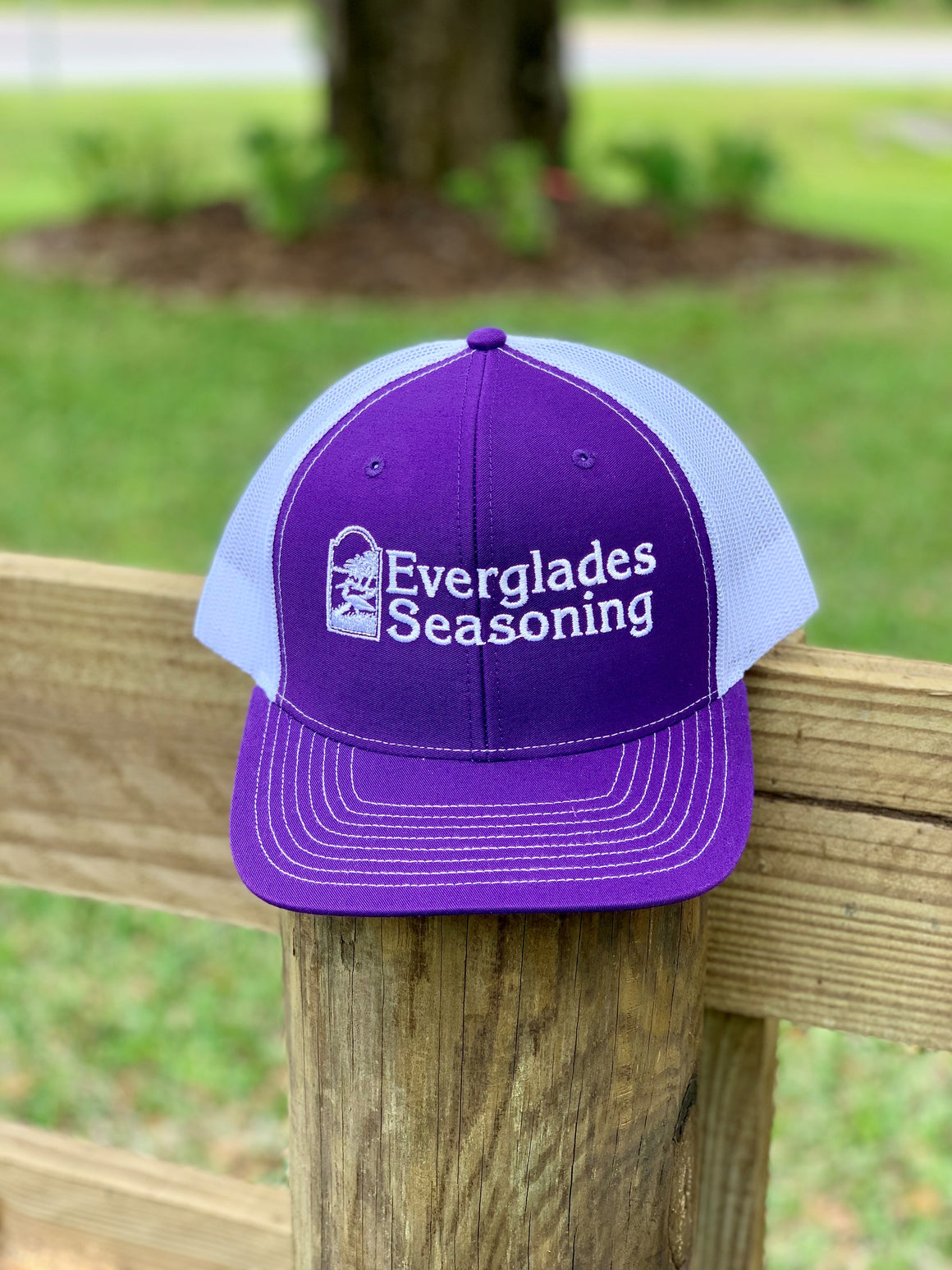 Everglades SnapBack-Purple and White