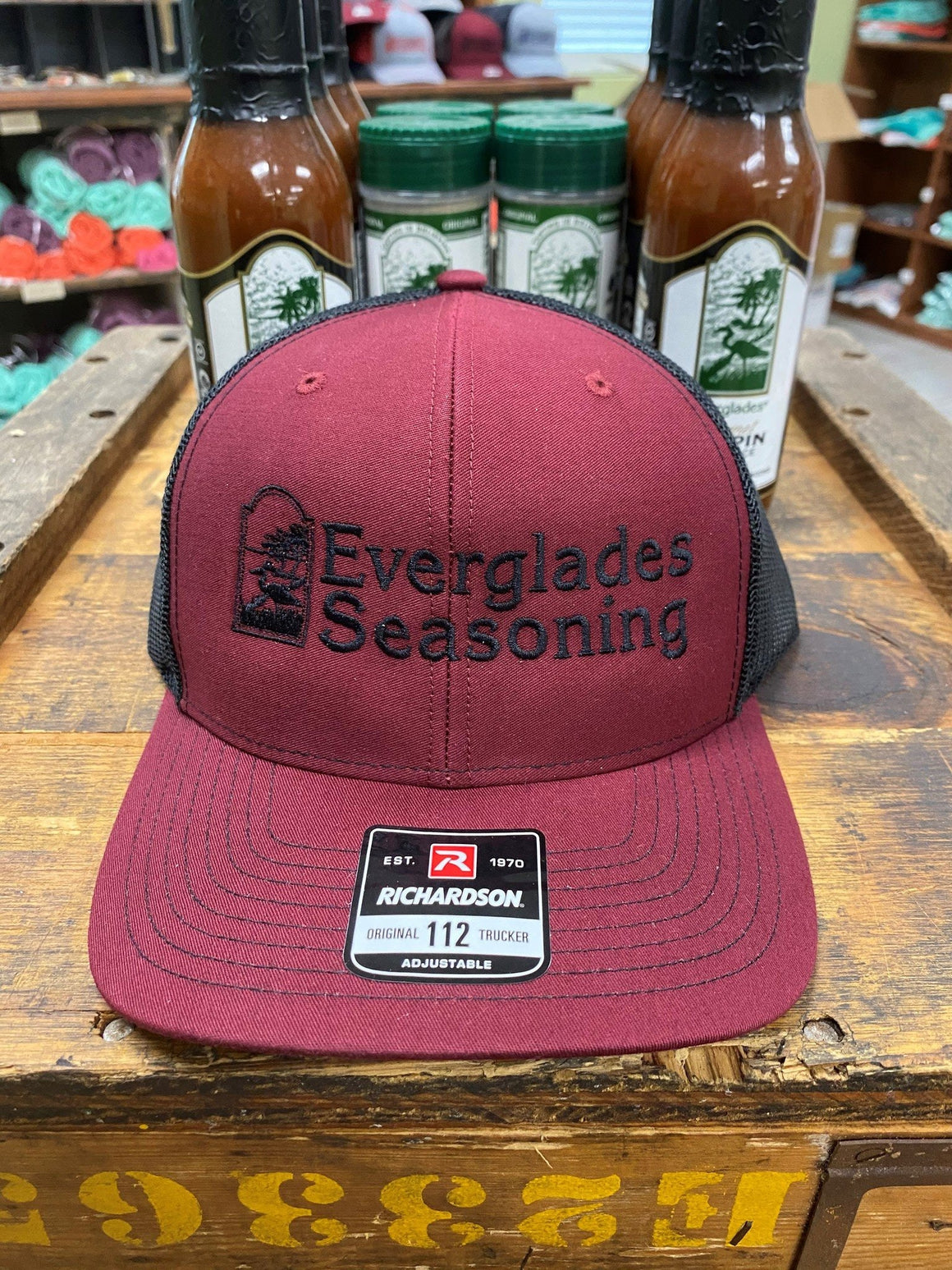 Everglades SnapBack-Red and Black