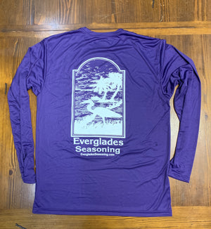 Everglades Sportswear Royal Purple Fishing Shirt