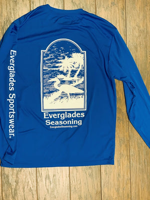 Everglades Sportswear Royal Blue Fishing Shirt