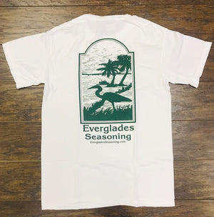 Comfort Color Everglades T-Shirt-White and Green