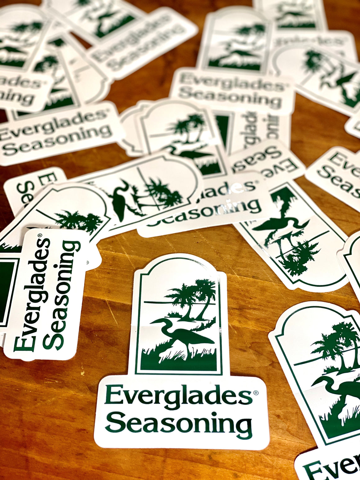 Everglades White Vinyl Sticker