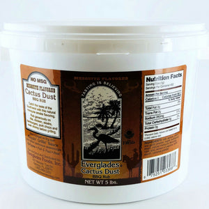 Everglades 5 lb Cactus Dust BBQ Rub Seasoning Jug