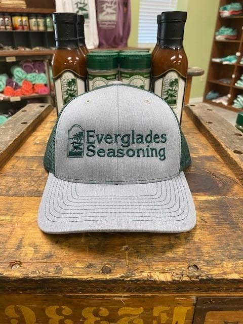 Everglades SnapBack-Grey and Hunter Green