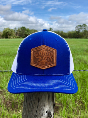 Leather Patch Richardson 112 Royal and White
