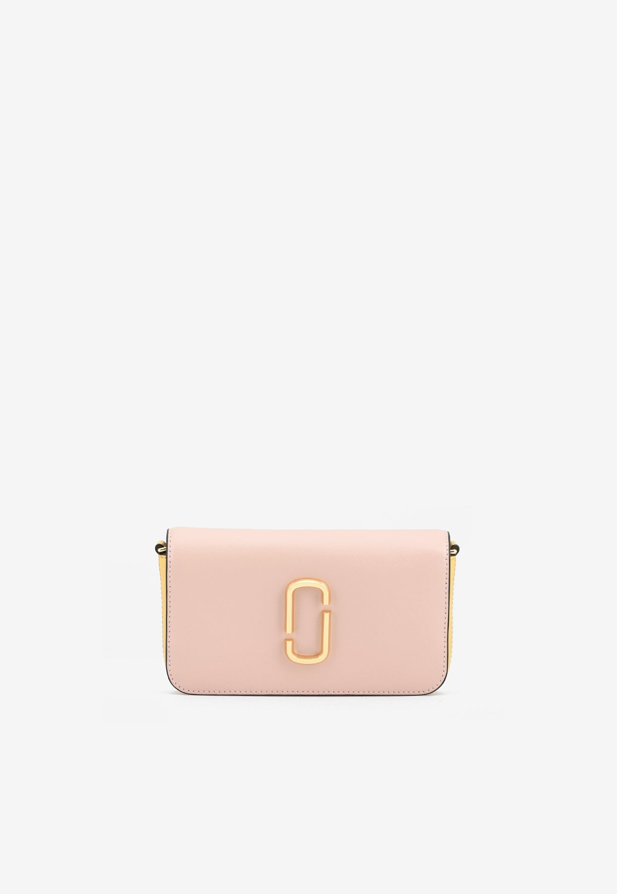 Marc Jacobs The Snapshot Chain Clutch In Saffiano Leather In Pink