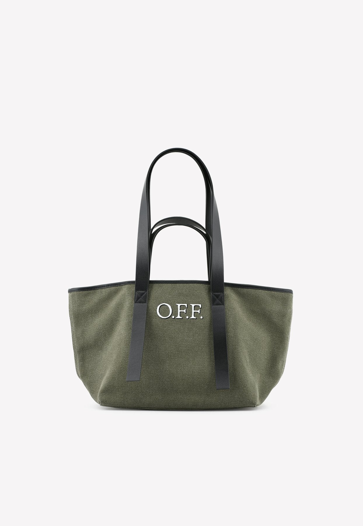 Off-white Small Commercial Canvas Tote Bag In Khaki
