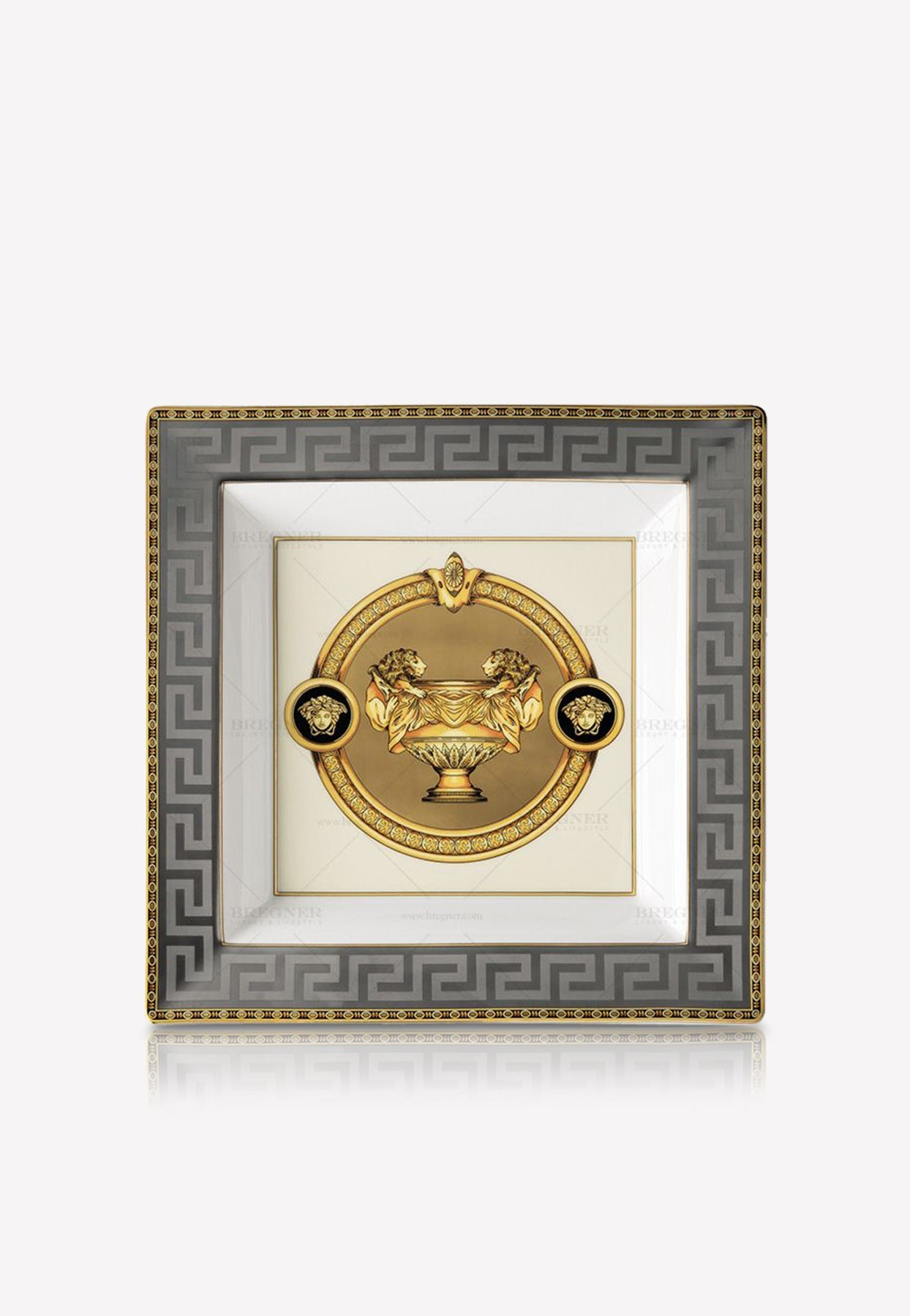 Versace Home Collection Prestige Gala Dish In Grey