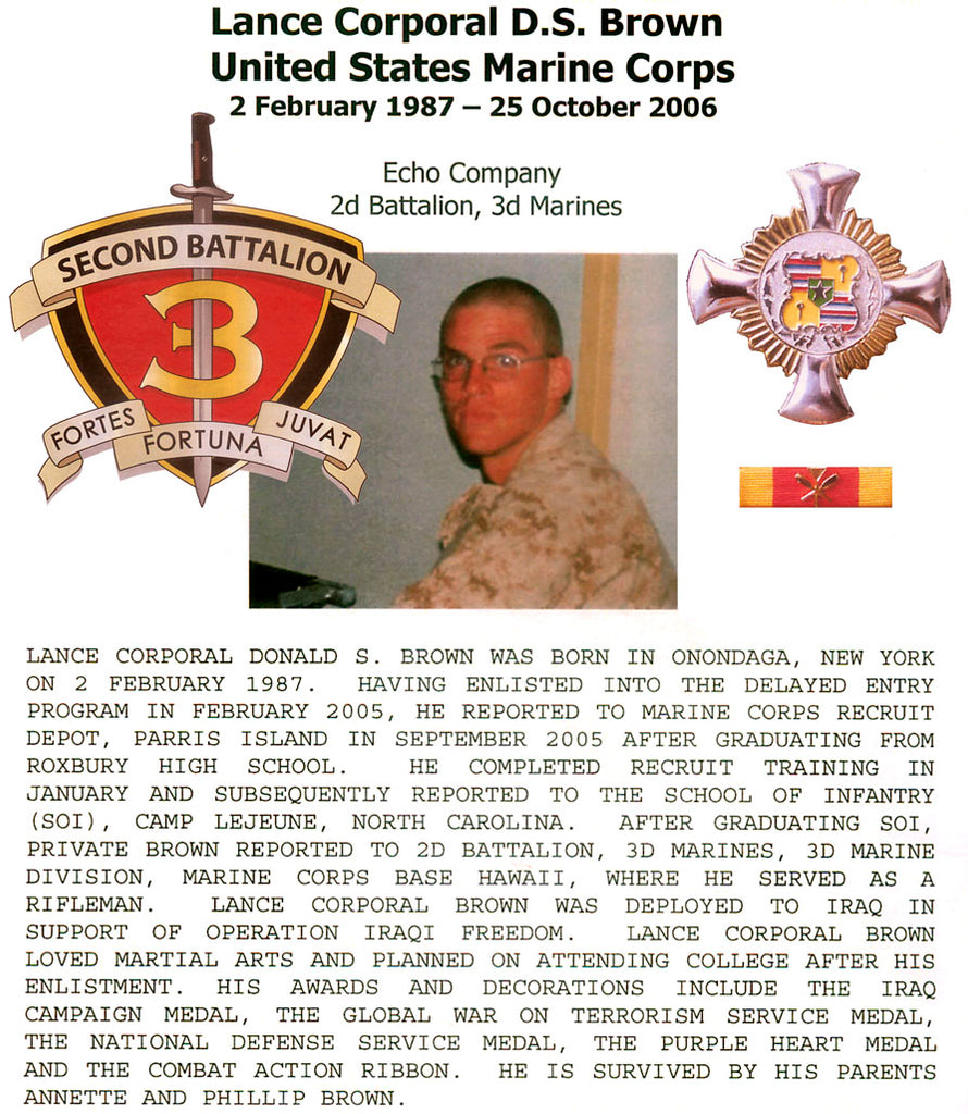 Lcpl Donald S Brown