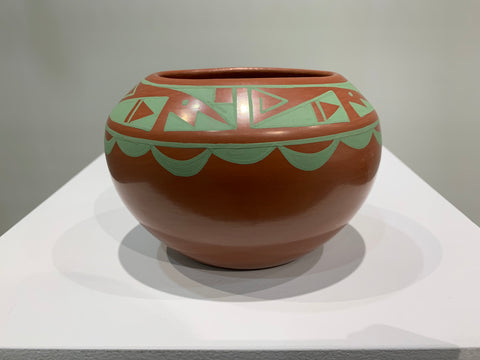 Native American pottery, San Ildefonso Pueblo, 2019