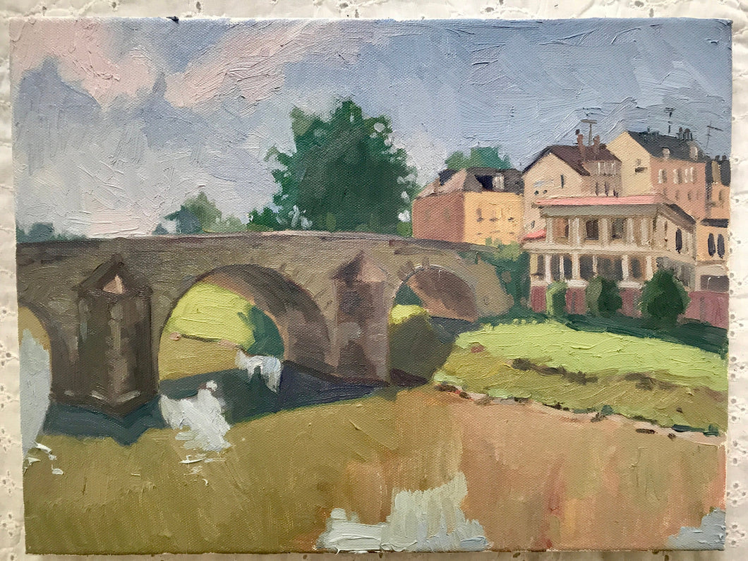 L'Isle Adam Painting Original Oil on Canvas Painting French Landscape Oise River