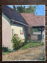 Load image into Gallery viewer, Oil painting on canvas portrait of a house original art val d'oise french landscape painting home with a garden