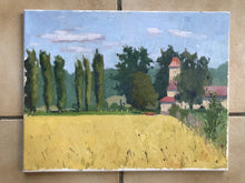 Load image into Gallery viewer, French landscape Oil painting on canvas Nesles-la-Vallée original art paysage val d'oise painting
