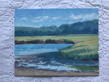 Load image into Gallery viewer, Landscape painting Ipswich Salt Marsh Massachusetts Plein Air Painting Oil on Canvas Original Art allaprima Landscape