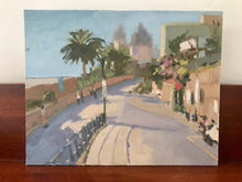 Load image into Gallery viewer, Praiano landscape oil painting San Gennaro Amalfi coast original art on canvas oil painting Italy cityscape