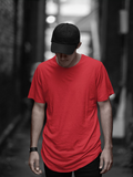 Men's Solid Red Half Sleeves