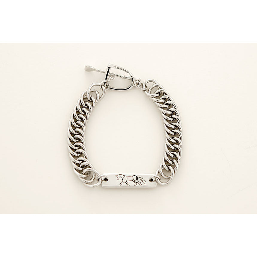 Michel McNabb Trotting Horse and Curb Chain Bracelet - Exceptional Equestrian