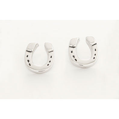 Michel McNabb Horse Shoe Earring Posts - Exceptional Equestrian