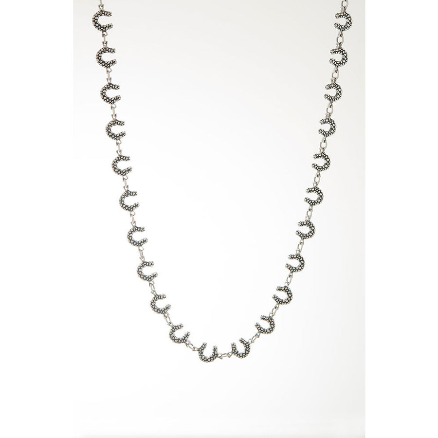 Michel McNabb Textured Horseshoe Necklace - Exceptional Equestrian