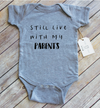 Paper Cow  - Still Live With Parents Heather Grey Bodysuit