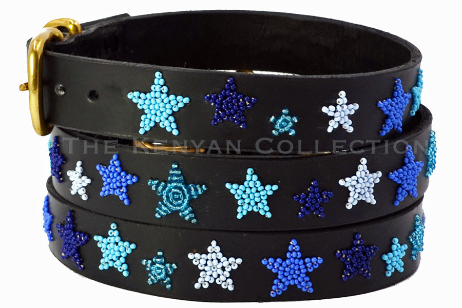 Indigo Stars Dog Collar by TKC