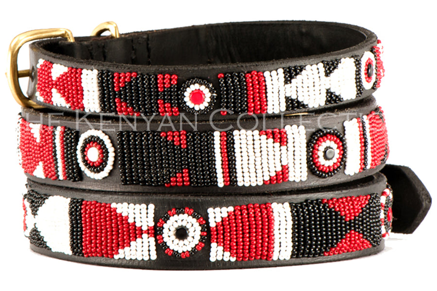 Maasai Dog Collar by TKC