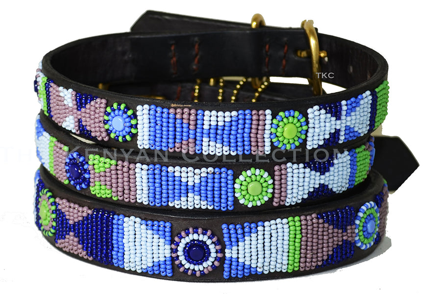 Passion Flower Dog Collar by TKC