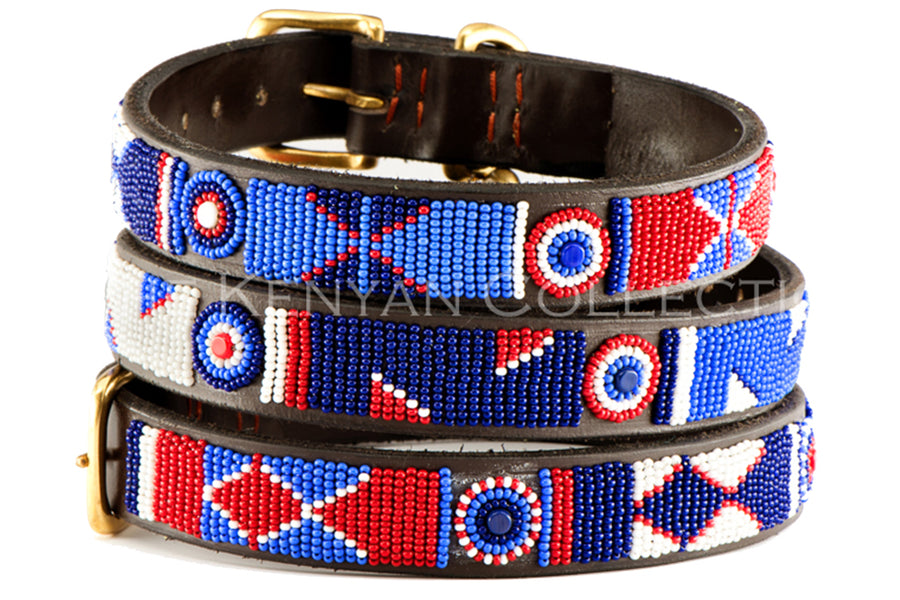 Red/White/Blue Dog Collar by TKC