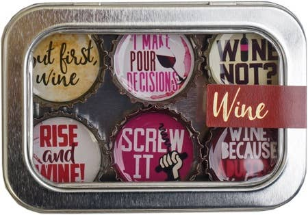 Kate Grenier Designs - Wine Magnet - Six Pack