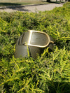 Sandy Duftler Spur Belt Olive Lamb with Antique Gold Buckle **